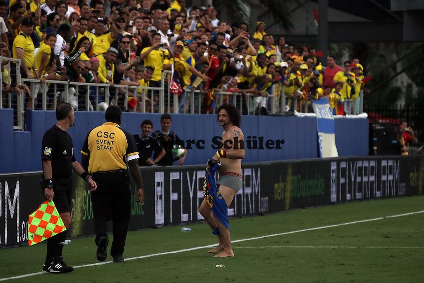 Deutscher Flitzer auf dem Rasen - Länderspiel Deutschland gegen Ecuador