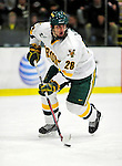 12 December 2009: University of Vermont Catamount defenseman Dan Lawson, a Junior from Oak Forest, IL, in action against the St. Lawrence University Saints at Gutterson Fieldhouse in Burlington, Vermont. The Catamounts shut out their former ECAC rival Saints 3-0. Mandatory Credit: Ed Wolfstein Photo