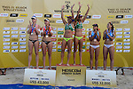 31.05.2015, Moskau, Vodny Stadion<br /> Moskau Grand Slam, Siegerehrung<br /> <br /> 1. Platz / Gold / Goldmedaille: Larissa Franca / Talita Antunes (BRA)<br /> <br />   Foto © nordphoto / Kurth