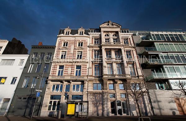 Impressions of the Plantinkaai in Antwerp (Belgium, 26/02/2014)