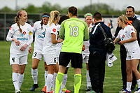 Piscataway, NJ - Sunday April 30, 2017: Becky Sauerbrunn, Nicole Barnhart and other starters during a regular season National Women's Soccer League (NWSL) match between Sky Blue FC and FC Kansas City at Yurcak Field.