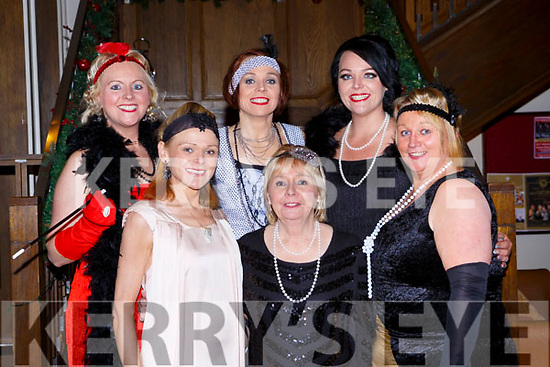 Sandra Brosnan, Siobhain, Sharon, Sheila and Patricia Looney with Jacqueline Ryan all jazzed up for The Great Gatsby Womens Christmas ball in the Brehon Hotel