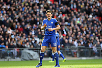 Harry Maguire of Leicester City during Tottenham Hotspur vs Leicester City, Premier League Football at Wembley Stadium on 10th February 2019