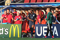 The England bench celebrate the victory during Slovakia Under-21 vs England Under-21, UEFA European Under-21 Championship Football at The Kolporter Arena on 19th June 2017