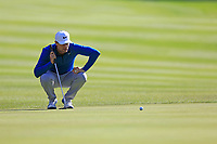 Lucas Bjerregaard (DEN) on the 1st green during Thursday's Round 1 of the 2017 Omega European Masters held at Golf Club Crans-Sur-Sierre, Crans Montana, Switzerland. 7th September 2017.<br /> Picture: Eoin Clarke | Golffile<br /> <br /> <br /> All photos usage must carry mandatory copyright credit (&copy; Golffile | Eoin Clarke)
