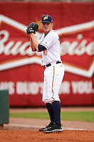 Montgomery Biscuits pitcher Parker Markel (30) warms up in the bullpen during a game against the Jackson Generals on April 29, 2015 at Riverwalk Stadium in Montgomery, Alabama.  Jackson defeated Montgomery 4-3.  (Mike Janes/Four Seam Images)