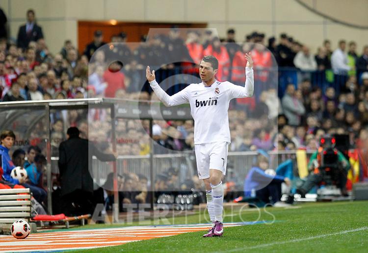 Madrid (19/03/2011).- Esatdio Vicente Calderon..Campeonato Naciona de Liga..Atletico de Madrid - Real Madrid..Cristiano Ronaldo...Photo: Alex Cid-Fuentes / ALFAQUI..