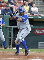 June 26, 2004:  Robinson Cancel of the Durham Bulls, International League (AAA) affiliate of the Tampa Bay Devil Rays, during a game at Dunn Tire Park in Buffalo, NY.  Photo by:  Mike Janes/Four Seam Images