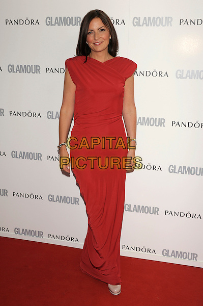 Davina McCall .Glamour Women Of The Year Awards held at Berkeley Square Gardens, London, England..June 7th 2011..inside arrivals full length red sleeveless dress long maxi .CAP/PL.©Phil Loftus/Capital Pictures.