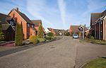 Detached houses in modern suburban housing estate, Martlesham, Suffolk, England