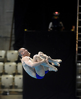 Russia's Evgenii Kuznetsov and Nikita Shleikher  Compete in the Men's 3m Synchro Springboard<br /> <br /> Photographer Hannah Fountain/CameraSport<br /> <br /> FINA/CNSG Diving World Series 2019 - Day 1 - Friday 17th May 2019 - London Aquatics Centre - Queen Elizabeth Olympic Park - London<br /> <br /> World Copyright © 2019 CameraSport. All rights reserved. 43 Linden Ave. Countesthorpe. Leicester. England. LE8 5PG - Tel: +44 (0) 116 277 4147 - admin@camerasport.com - www.camerasport.com