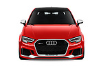 Car photography straight front view of a 2018 Audi RS-3 4WD 4 Door Sedan Front View