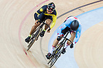 Mohd Azizulhasni Awang of the Malaysia team and Hugo Barrette of the Canada team compete in the Men's Sprint 1/16 Finals as part of the 2017 UCI Track Cycling World Championships on 14 April 2017, in Hong Kong Velodrome, Hong Kong, China. Photo by Chris Wong / Power Sport Images