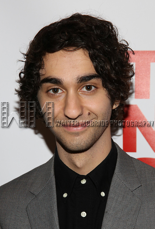 "Alex Wolff attends the Opening Night of The New Group World Premiere of ""All The Fine Boys"" at the The Green Fig Urban Eatery on March 1, 2017 in New York City."