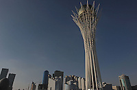The  Bayterek tower in Astana, the capitol of Kazakstan. <br />
