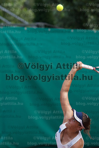Andreja Klepac (SLO) pictured loosing against first time WTA tournament winner Alizé Cornet (FRA) during the Gaz de France Grand Prix international women tennis competition final round held at Roman Tennis Academy in Budapest, Hungary. Sunday, 13. July 2008. ATTILA VOLGYI