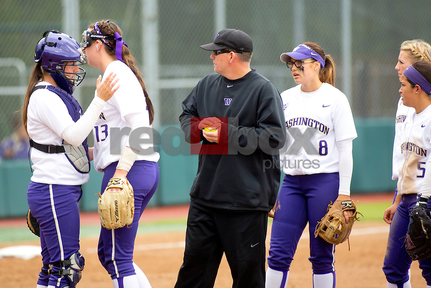 Lance Glasoe. The University of Washington women's softball team honored the seniors following their final home game of the regular season against Arizona State University on Sunday April 29, 2012.(Photo by Scott Eklund /Red Box Pictures)
