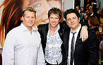 "HOLLYWOOD, CA. - April 02: Rascal Flatts' Gary LeVox, Joe Don Rooney and Jay DeMarcus arrive at the premiere of Walt Disney Picture's ""Hannah Montana: The Movie"" held at the El Captian Theatre on April 2, 2009 in Hollywood, California."