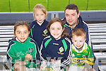Kerry supporters at the Kerry Senior Football Team Media day at Fitzgerald Stadium on Saturday From Left Emear Beasley, Grace O Connor, Orla O'Connor, Sean O'Connor and Darragh O'Connor.