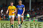Killian Spillane of Kerry with James Mitchell of Leitrim. All Ireland Junior Championship Semi-Final, Kerry V Leitrim. 22/07/2017. Gaelic Grounds, Limerick, Co Limerick.