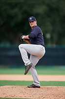 GCL Yankees West relief pitcher Jackson Bertsch (40) delivers a pitch during the second game of a doubleheader against the GCL Braves on July 30, 2018 at Champion Stadium in Kissimmee, Florida.  GCL Braves defeated GCL Yankees West 5-4.  (Mike Janes/Four Seam Images)