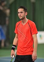 Rotterdam, Netherlands, Januari 24, 2016,  ABNAMROWTT Supermatch, Jesse Timmermans (NED)<br /> Photo: Tennisimages/Henk Koster