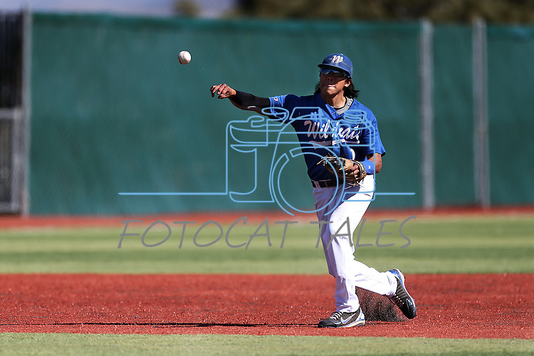 Western Nevada's Tony Roque makes a play during a college baseball game against Salt Lake Community College in Carson City, Nev., on Friday, March 1, 2013..Photo by Cathleen Allison