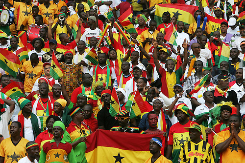 31.01.2010 African Cup of Nations Final from Angola. Ghana v Egypt. Picture shows Ghana supporters.