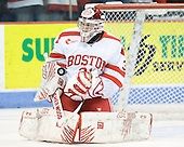 Kieran Millan (BU - 31) - The visiting Boston College Eagles defeated the Boston University Terriers 3-2 to sweep their Hockey East series on Friday, January 21, 2011, at Agganis Arena in Boston, Massachusetts.