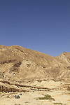 Israel, Negev, Hatzera Ridge as seen from Wadi Zin