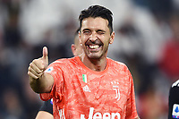 29th June 2020; Turin, Italy; Goalkeeper Gianluigi Buffon has extended his contract at Juventus for the Serie A league