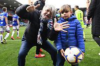 Massimo Ferrero president of Sampdoria celebrates at the end of the match <br /> Genova 14-04-2019 Stadio Luigi Ferraris Football Calcio Serie A 2018/2019 Sampdoria - Genoa <br /> Foto Matteo Gribaudi / Image Sport / Insidefoto