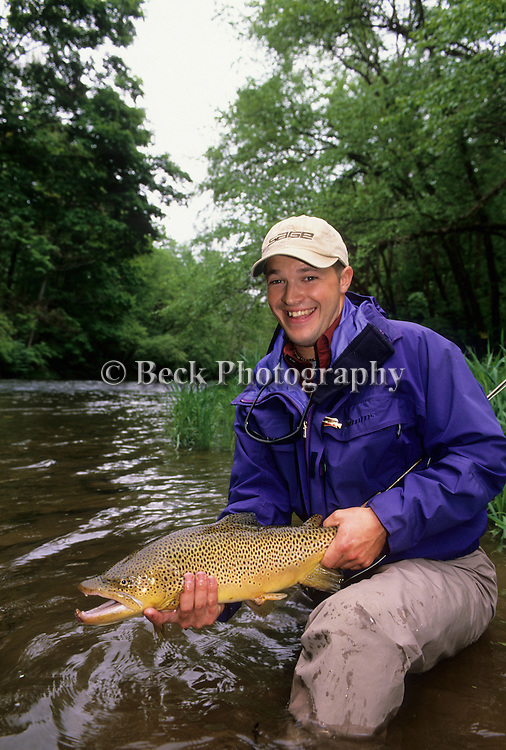 Greg Galanda with a brown trout