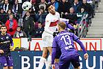 09.11.2019, Stadion an der Bremer Brücke, Osnabrück, GER, 2. FBL, VfL Osnabrueck vs. VfB Stuttgart<br /> <br /> ,DFL REGULATIONS PROHIBIT ANY USE OF PHOTOGRAPHS AS IMAGE SEQUENCES AND/OR QUASI-VIDEO, <br />   <br /> im Bild<br /> Atakan Karazor (VfB Stuttgart #16), Kopfball <br /> <br /> <br /> Foto © nordphoto / Paetzel