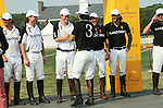 Prince Harry, Nacho Figueras at the 3rd Annual Veuve Clicquot Polo Classic on Governors Island on June 27, 2010.