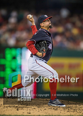 22 July 2016: Washington Nationals pitcher Oliver Perez on the mound against the San Diego Padres at Nationals Park in Washington, DC. The Padres defeated the Nationals 5-3 to take the first game of their 3-game, weekend series. Mandatory Credit: Ed Wolfstein Photo *** RAW (NEF) Image File Available ***