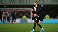 Said Benrahma of Brentford applauds the home fans at the end of the match during Brentford vs Reading, Sky Bet EFL Championship Football at Griffin Park on 23rd November 2019
