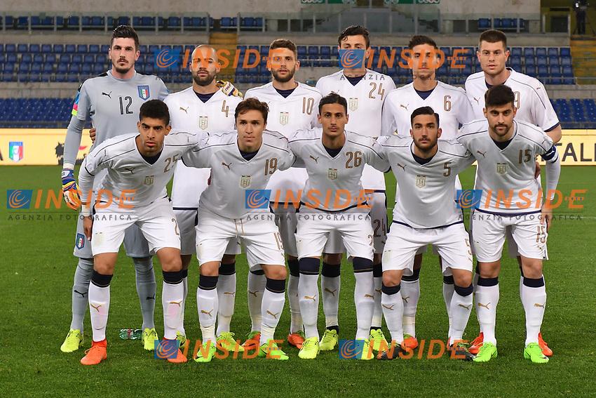 Formazione Italia Team Line up<br /> Roma 27-02-2017, Stadio Olimpico<br /> Football Friendly Match  <br /> Italy - Spain Under 21 Foto Andrea Staccioli Insidefoto