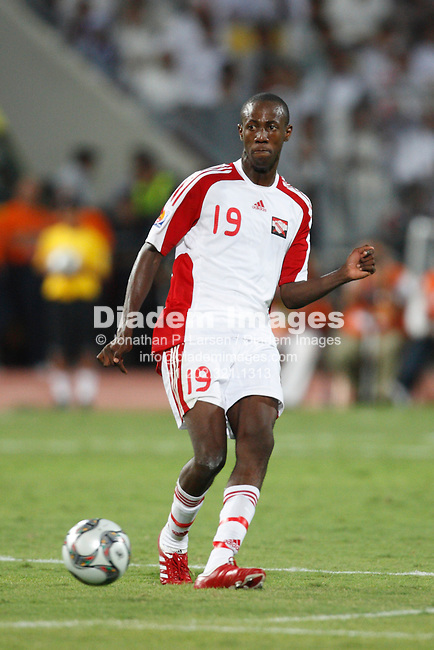 ALEXANDRIA, EGYPT - SEPTEMBER 24:  Daneil Cyrus of Trinidad and Tobago makes a pass during a FIFA U-20 World Cup soccer match against Egypt September 24, 2009 in Alexandria, Egypt.  (Photograph by Jonathan P. Larsen)