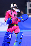 Takashi Yoshikawa (JPN), <br /> SEPTEMBER 1, 2018 - Hockey : <br /> Men's Final match between <br /> Japan 6-6(3-1) Malaysia <br /> at Gelora Bung Karno Hockey Field <br /> during the 2018 Jakarta Palembang Asian Games <br /> in Jakarta, Indonesia. <br /> (Photo by Naoki Nishimura/AFLO SPORT)