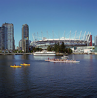 BC Place Stadium (New Retractable Roof completed in 2011) at False Creek, Vancouver, BC, British Columbia, Canada