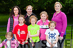 Alice, Kerry,  Lola and Marina Eager, Back row: Anna Eager, Susan Barrett, Sinead barrett and Lauura kennedy at the Killarney Parkrun on Saturday
