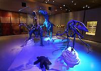 Dinosaur diorama at the Gran Museo del Mundo Maya museum in Merida, Yucatan, Mexico  .                           .