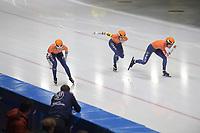 SPEEDSKATING: 09-12-2018, Tomaszów Mazowiecki (POL), ISU World Cup Arena Lodowa, Team Sprint Ladies, Femke Beuling, Ireen Wûst, Letitia de Jong, Netherlands, ©photo Martin de Jong