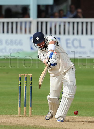 10.09.2010 Day four of the relegation battle between Kent and Hampshire at Canterbury. Darren Stevens hits out in a quick fire knock of 45 in Kents second innings in a game they lost by 130 runs