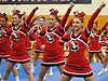The Connetquot varsity cheerleaders perform during an invitational competition held at Smithtown High School West on Saturday, Dec. 17, 2016.