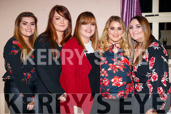 Cliona Costello, Katie O'Halloran, Neidin O'Grady, Fiona O'Hara and Sinead O'Mahony, enjoying the Causeway Beard Festival on Saturday night last.