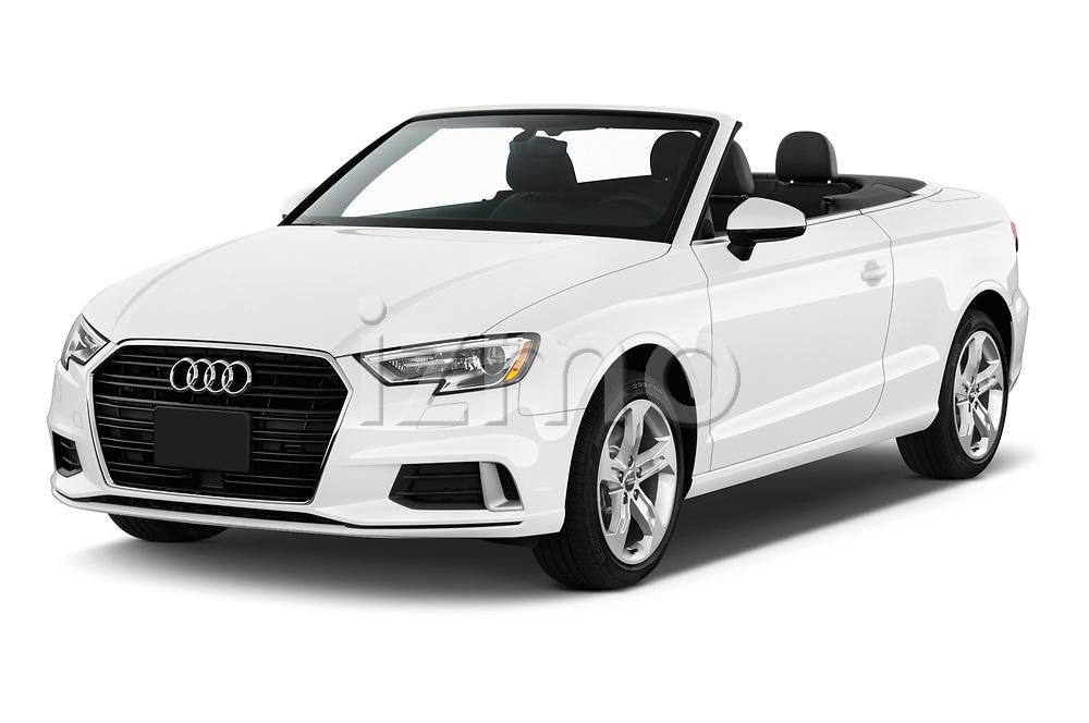 2018 Audi A3 Premium 2 Door Convertible angular front stock photos of front three quarter view