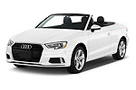 2018 Audi A3 Premium 2 Door Convertible angular front stock photos of front three quarter view