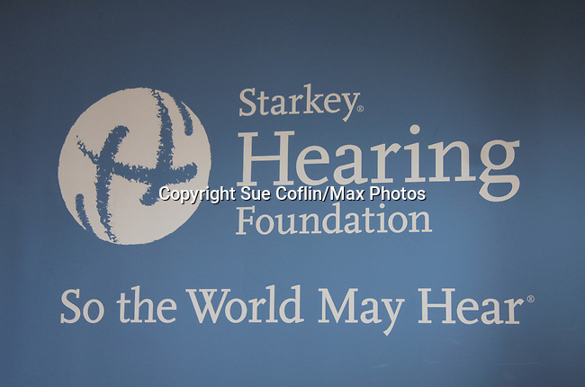 Banner of the Starkey Hearing Foundation event on June 18, 2011 at the Las Vegas Hilton, Las Vegas, Nevada. (Photo by Sue Coflin/Max Photos)
